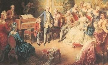 Bản nhạc ngẫu hứng của cậu bé mozart trong hoàng cung Áo hoa lệ