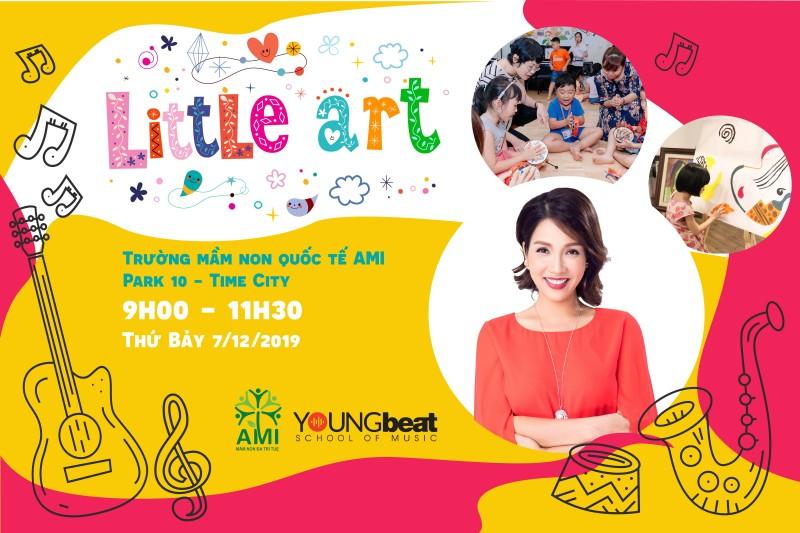 """Miễn phí trải nghiệm tham gia câu lạc bộ """"Little art"""" Times City tháng 12/2019"""